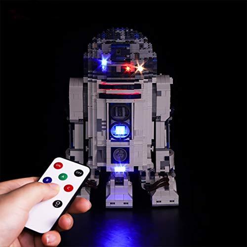 YVSoo LED Licht-Set für Baustein Spielzeug LED Beleuchtung Kit für Lego Star Wars 10225 - R2-D2 - Modell Nicht Enthalten
