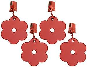 Tischdeckengewichte Tischdeckenhalter Blume 4er-Set Rot