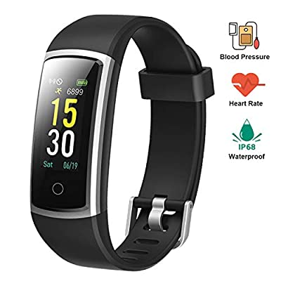 Lintelek Fitness Tracker, Smart Watch with Blood Pressure IP68 Waterproof Activity Tracker Heart Rate Monitor Pedometer Watch Step Counter Sleep Monitor Calorie Counter Watch for Kids Women Men by Lintelek