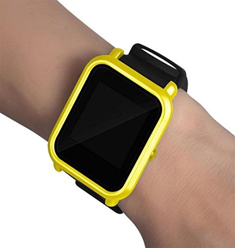 ZEZKT-Uhrenarmband ┇Case Cover Protect Shell For Xiaomi Huami Amazfit Bip Youth Watch Uhrenarmband (Gelb)
