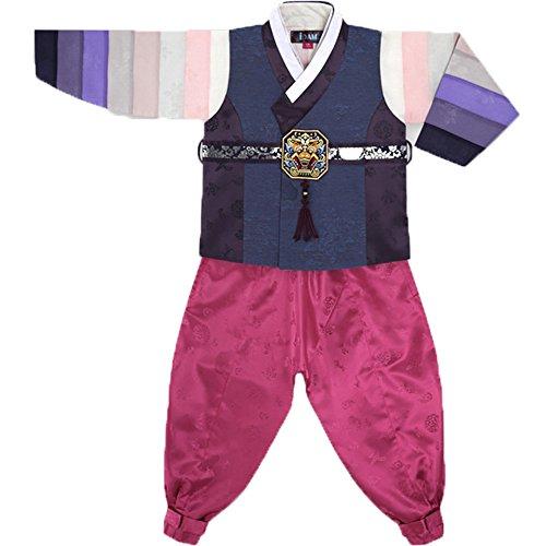 Kinder Kostüm Für Koreanisch Jungen - Hanbok Korea-Kleid für Jungen, traditionelles Kleid, Geburtstag, Neujahr, Party Dong Ho Gr. 110 cm (Alter 4-5), multi