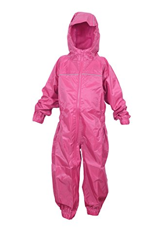 DRY KIDS Childrens Waterproof Rainsuit, All in One Dry Suit for Outdoor Play. Ideal Outerwear for Boys and Girls