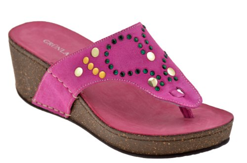 Grunland Cio224 Wedge 50 Tongs Neuf Chaussures F. Fuchsia