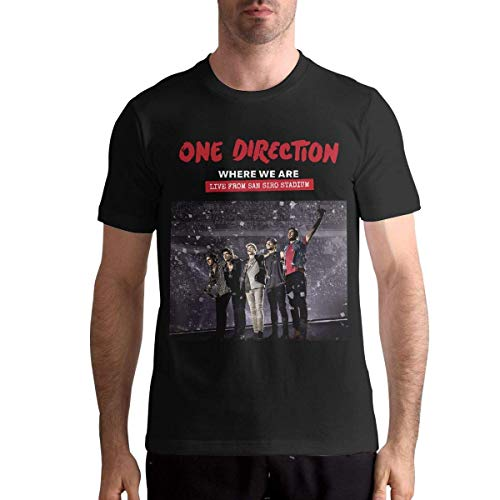One Direction Mens Short Sleeve Shirt,Black,L