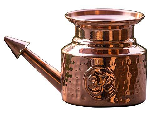 Reines Kupfer NETI POT, Nasenspülkännchen, Nethi Pot für Nasenspülung, Jala Neti Nasendusche, Nethi Topf aus Kupfer