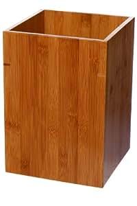 Ideko poubelle de salle de bain en bambou for Poubelle bambou salle bain