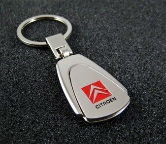 citroen-high-quality-strong-metal-car-keyring-gift-box-silver-color