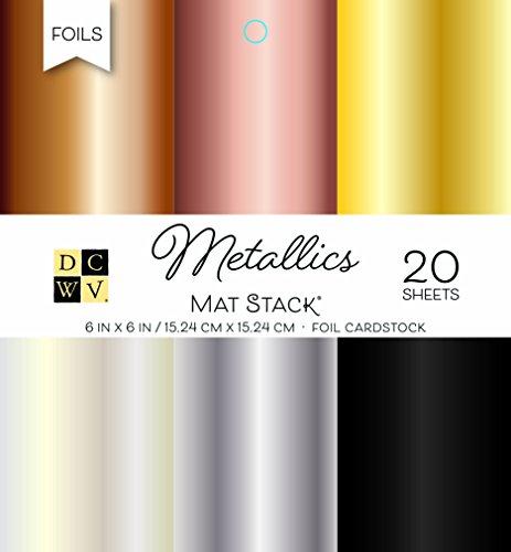 American Crafts DCWV 15,2x 15,2cm tonkartons Stack: Metallics -