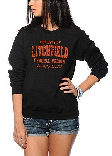 Litchfield Federal Prison Orange Pullover / Sweatshirt - Damen Schwarz, Groß
