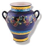 Del Rio Salado Cadiz, Blumentopf, Wandtopf 24 cm, Hängetopf, spanische Keramik, handbemalt