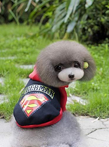 Doggy Kostüm Tierbedarf Sonstiges Haustier Winter Wear Teddy Kleidung Superman Sweater Batman Sweater (Farbe: Schwarz, Größe: XXL) Haustier-Hundekleidung (Farbe : Black, Größe : XXL)