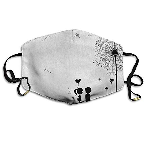 Vintage Classic Thistles Dandelions Flowers Cute Lovers Printed Mouth Masks Unisex Anti-dust Masks Reusable Face Mask -