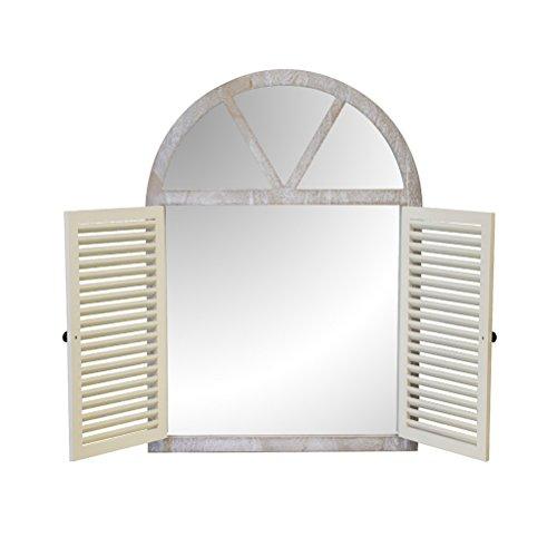 fensterladen alt Yuan Spiegel Feste weiße Wandbehang Fensterläden Versteckte kreative Kunst Spiegel (89 * 64 * 55 cm) /&
