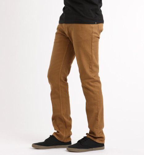 Emerica Hsu sara Toga Denim Jeans da uomo Marrone (Tobacco)
