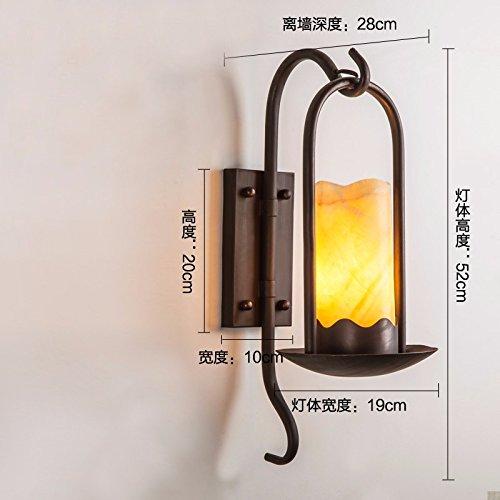 Wandun American Retro-Minimalista Parete Lampada Lampada Da Comodino Ferro Imitazione