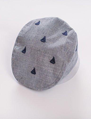 Coton été Casquette Section Mince Enfant Bérets Bonnet Anti-Soleil (Taille : 50 cm)