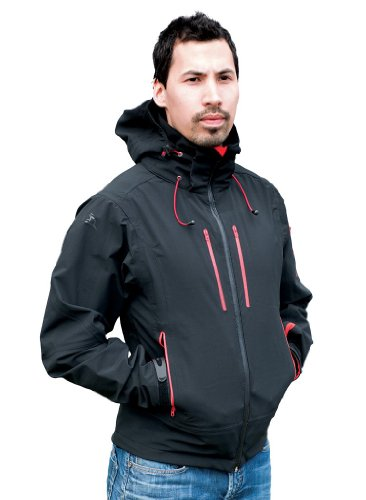 Stormtech Herren Expedition Softshell-Jacke XB-2M Black/Flame Red L Expedition Softshell