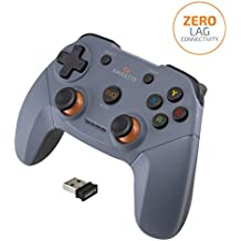 Amkette Evo Elite Wireless Gamepad for PC/Laptop and PS3 Compatible with Dual Vibration Rumble effect (Black)
