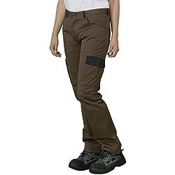 Label Blouse Pantalon de Travail Homme Coupe Jeans 5 Poches + Deux Poches cotés. Couture renforcée Braguette Zip Métal Couleur Chocolat Rabat Noir T36