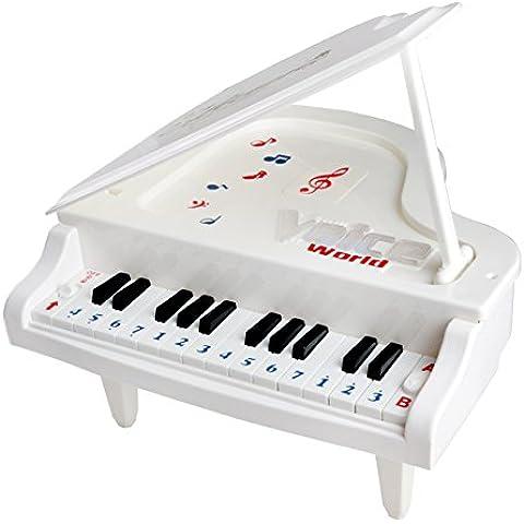 Fajiabao Mini Pianoforte Elettronico Plastica 14 Tasti Piano Educativo Giocattolo Giochi Musicali per Bambini da 3 Anni