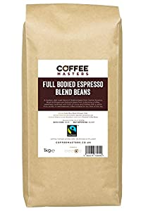 Coffee Masters Full Bodied Espresso Coffee Beans 1kg - Fairtrade