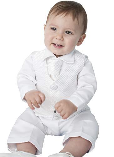 4Stück Tauf-Anzug in weiß Gr. 0-3 Monate, weiß -
