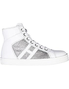 Hogan Rebel zapatos zapatillas de deporte largas niña en piel nuevo r141 paillet
