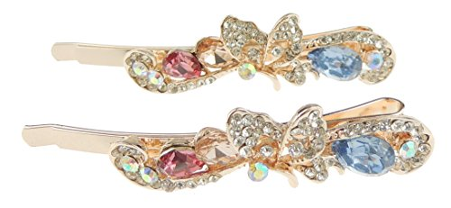 Damen Mädchen Luxus Swirly vielen glitzernden Kristall 6cm Haarklammern Butterfly Swirly (Swirly Mädchen)