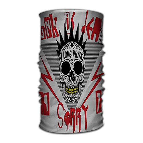 Stirnband Multifunctional Head Scarf, Face Mask, Magic Scarf, Sweatband Fishing, Yoga, Running, Motorcycling Skull Punk Man Graphic Printing Rosa Punk Pirate
