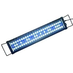 Aquarien ECO Top Vente Lampe Aquarium Longueur 60cm - Blanc Bleu Moonlight pour Aquarium 60-85cm