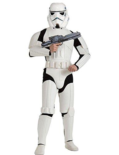 Star Wars Stormtrooper Kostüm Deluxe weiss schwarz (Bundle) ()