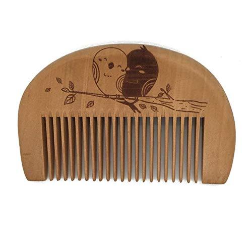 erghj Pocket Wooden Comb Super Wood Combs Kein Haarstyling-Tool Mit Statischem Bartkamm