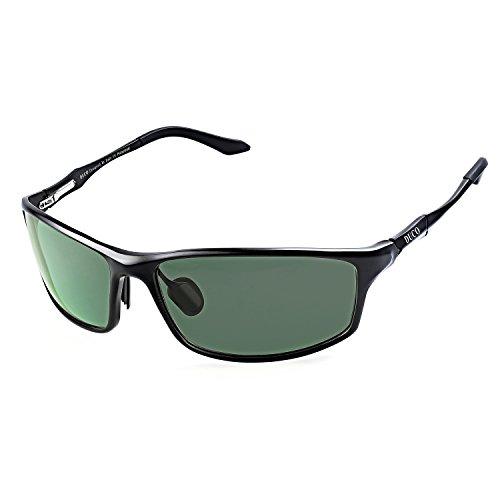 DUCO Herren Sportbrille Polarisierte Sonnenbrille Fahrerbrille 8201 (Grün)