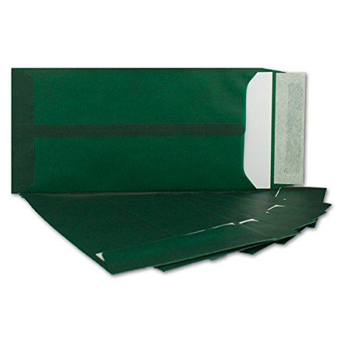 50 DIN Lang Briefumschläge transparent in Dunkel-Grün Farbig   Format 220 x 110 mm   Premium 100 g/qm   Transparent-Hüllen mit Abziehstreifen   bunte Umschläge für Einladungen & Hochzeiten