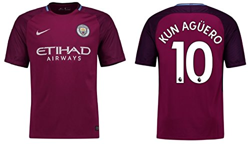 Trikot Kinder Manchester City 2017-2018 Away - Aguero 10 (164) (Trikot Auswärts City)