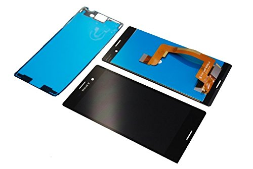 Sony Xperia M4 Aqua E2303 LCD Display Touch Screen Front Glas Cover Klebestreifen Original NEU black/schwarz (Lcd-m4)