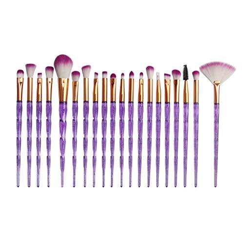 Berimaterry ❤️ Eye Diamond Pinceau De Maquillage Set 20 Pcs Sourcils Eyeliner Blush Pinceau De Maquillage CosméTique Pinceau Correcteur
