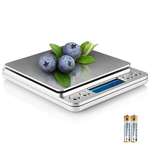 QQPOW Mini Báscula Digital cocina Balanza Alimentos