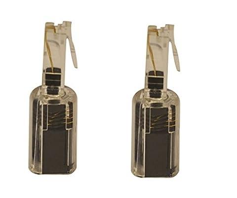 Short BLACK/ CLEAR Telephone/ Handset Coil Cord Detangler (2 pack) DragonTrading®