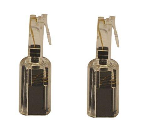 Wendelkabel transparent/schwarz Telefon/Handset Detangler (2Pack) dragontrading® (Detangler Handset Cord)