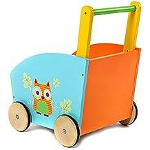Labebe-Chariot de marche enfant activité coffre à pousser