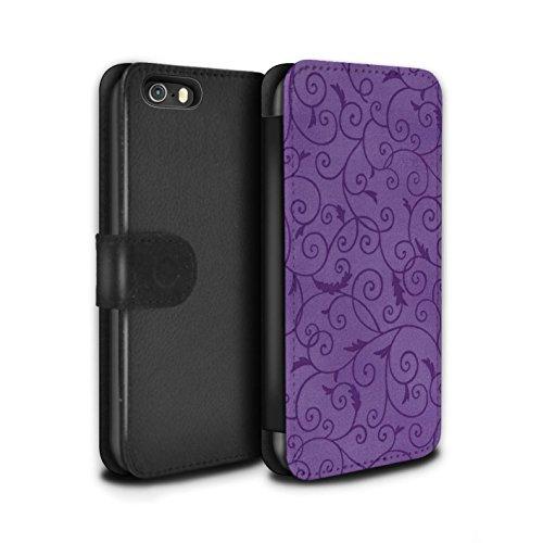 Stuff4 Coque/Etui/Housse Cuir PU Case/Cover pour Apple iPhone 5/5S / Pack (8 pcs) Design / Motif de la vigne Collection Pourpre