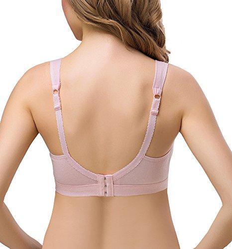 KOOYOL Damen Baumwolle Still-BH Schwangerschaft Still BHs Pink