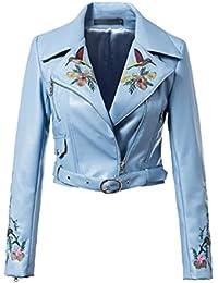 reputable site fc489 c785f Amazon.it: chiodo donna - Blu / Donna: Abbigliamento
