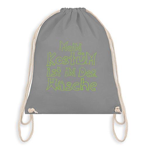 Karneval & Fasching - Mein Kostüm ist in der Wäsche - Unisize - Hellgrau - WM110 - Turnbeutel & Gym Bag