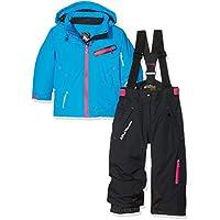 Peak Mountain Fastec Conjunto de esquí para niña, Color Azul/Negro, tamaño 6 años