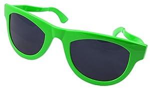 CREATIVE Partido Gafas Verde de neón XXL