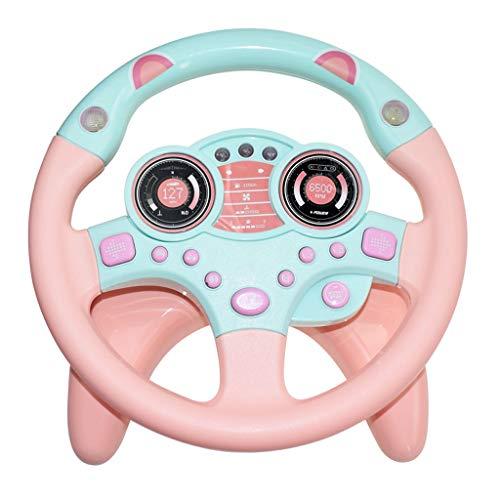 Simuliertes Lenkspielzeug Für Kleines Lenkrad Und Fahrsimulator Für Kinder, Chshe, Lernspielzeug, Kunststoff Rosa -