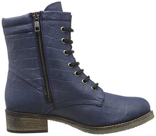 Jonny´s Vegan Damen Dagrun Combat Boots, Blau (Marino 1), 42 EU - 6