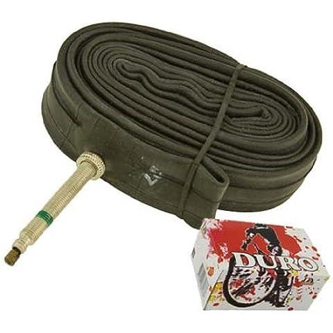 Tube Duro 700 x 25c/28c 52mm Standard Presta/Valve. 700c bicycle tube, 700c bike tube, track bike tube, fixie bike tube by Lowrider